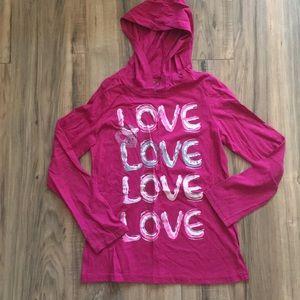 Light hooded sweatshirt